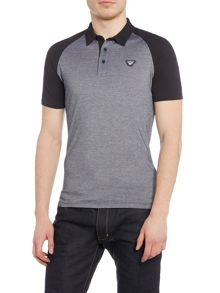Armani Jeans Regular Fit Contrast Sleeve Logo Polo