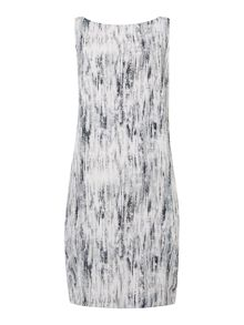 Gray & Willow Grassland print vee neck shift dress