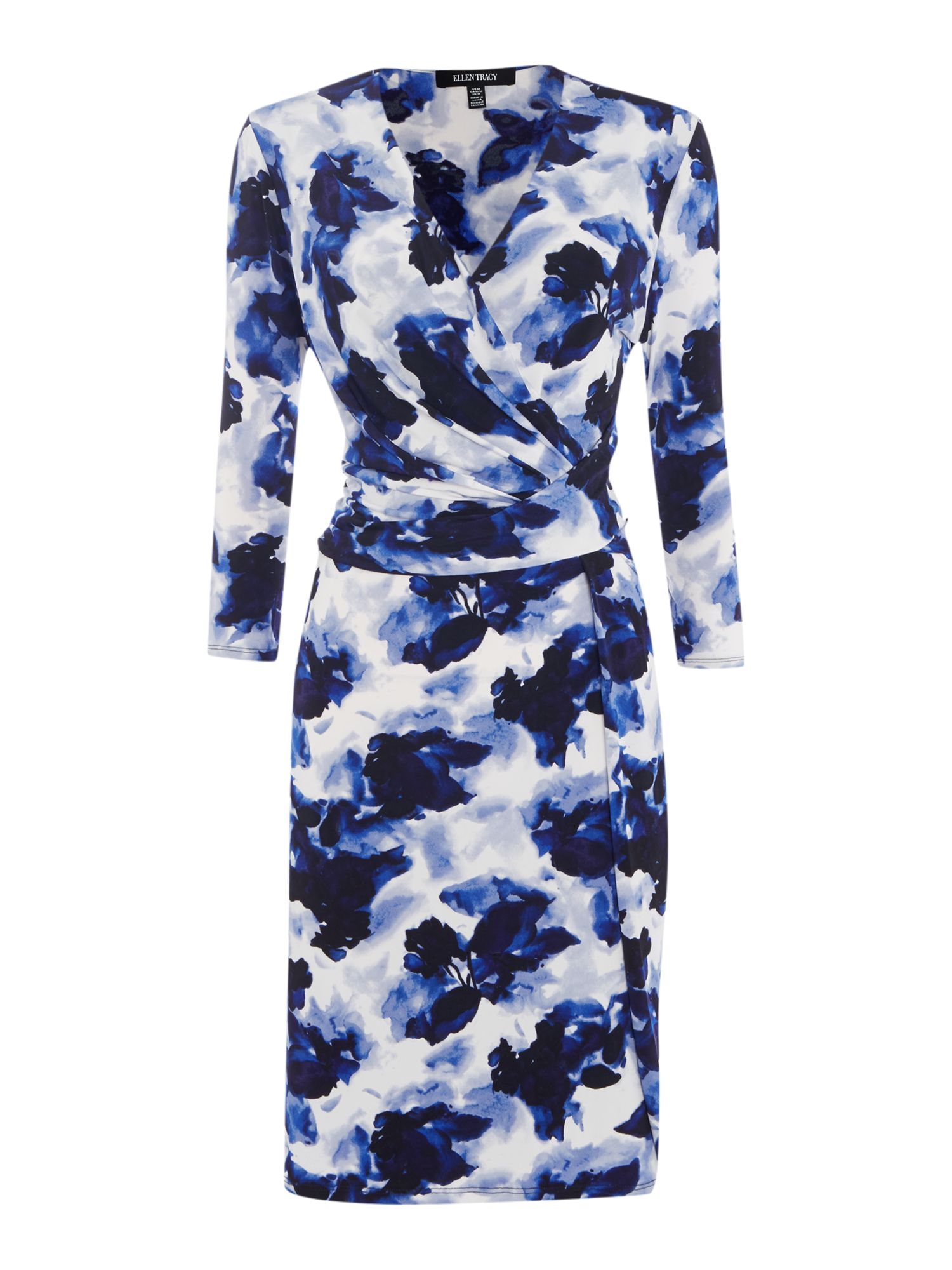 Ellen Tracy Jersey shift dress, Blue