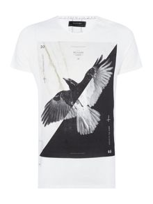 Religion Regular fit flying bird printed t shirt