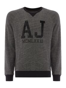 Armani Jeans AJ Graphic Crew Neck Sweatshirt
