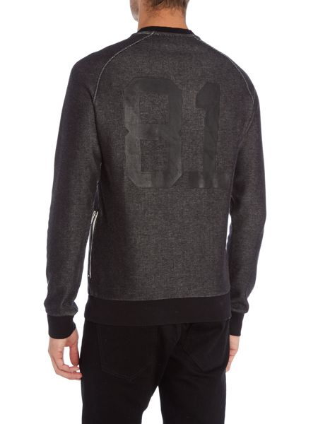 Armani Jeans `81` Back Graphic Crew Neck Tracksuit Top