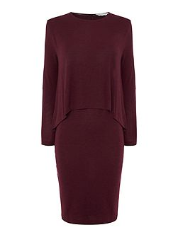 Pia layered jersey dress