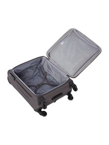 Aire charcoal 4 wheel soft cabin suitcase