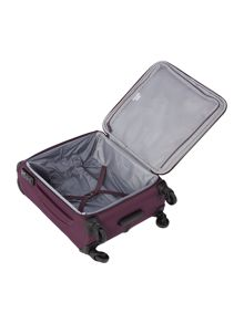 Aire purple 4 wheel soft cabin suitcase