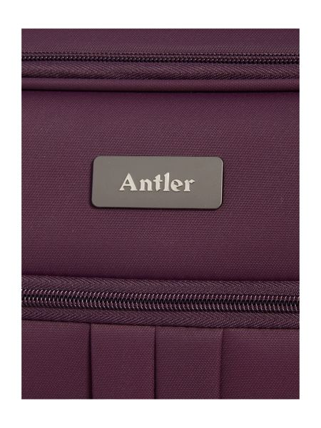 Antler Aire purple 4 wheel soft cabin suitcase