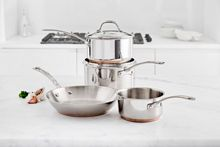 Linea 4 piece copper core pan set