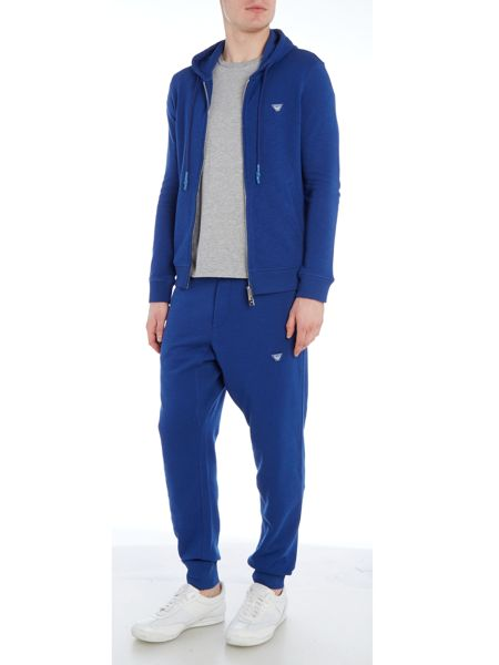 Armani Jeans Tapered Fit Badge Logo Tracksuit Bottoms