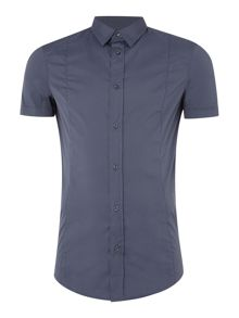 Armani Jeans Fitted Short Sleeve Stretch Shirt