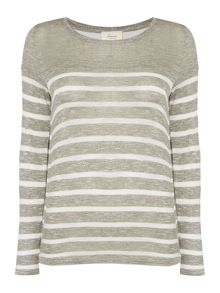 Linea Weekend Cavern Double Layer Stripe Top