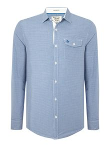 Long sleeve facade gingham shirt