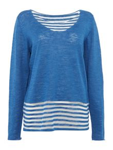 Crea Concept Pullover striped top