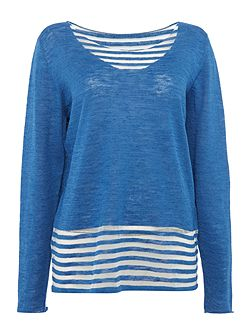 Pullover striped top