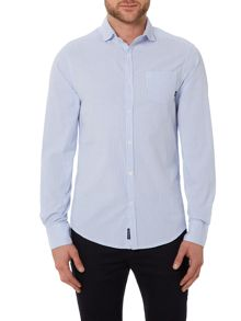 Armani Jeans Regular Fit Searsucker Stripe Shirt