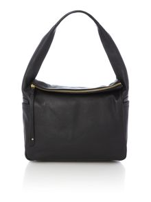 Brockley black large hobo bag