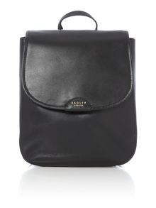 Radley Spitalfields black medium flap over backpack