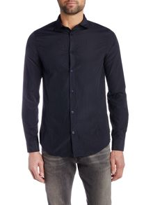 Armani Jeans Regular Fit Long Sleeve Jacquard Shirt