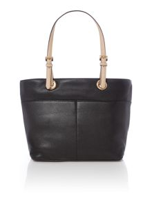 Bedford black pocket tote bag