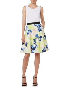 Ellen Tracy Elastic waist pleated skirt