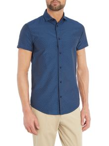 Armani Jeans Regular Fit Short Sleeve Jacquard Shirt