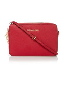Michael Kors Jetset travel red crossbody bag