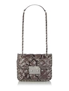 Carine grey shoulder bag