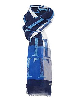 Hilfiger painted letter printed scarf