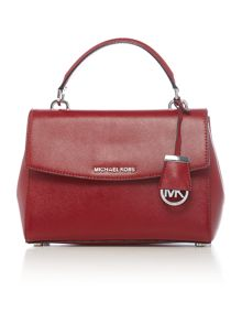 Michael Kors Ava red small satchel bag