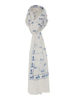 Sofia bicycle print scarf