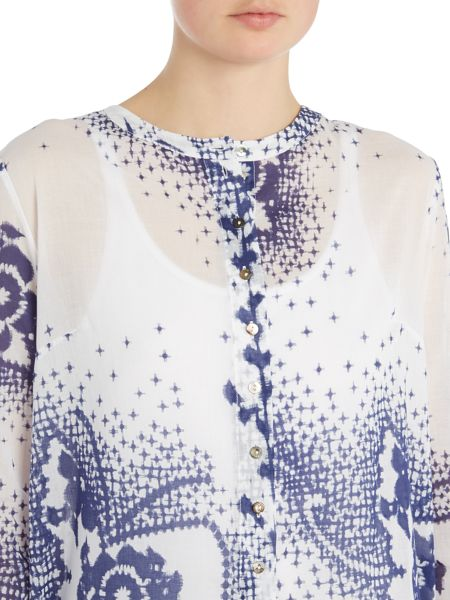 Crea Concept Button up printed shirt