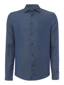 Armani Jeans Regular Fit Mini Birdseye Shirt
