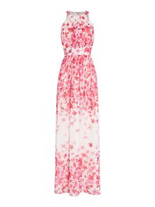 Eliza J Halter neck maxi dress