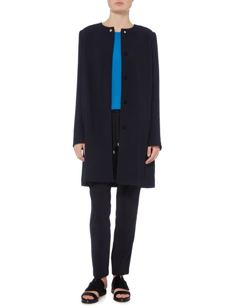 Hugo Boss Cicenda Collarless Swing Coat