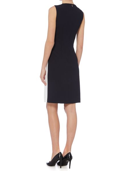 Hugo Boss Halani Bi Colour Side Belt Shift Dress