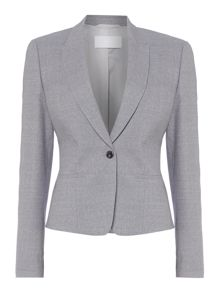 Hugo Boss Janeka2 Textured Wool Suit Jacket
