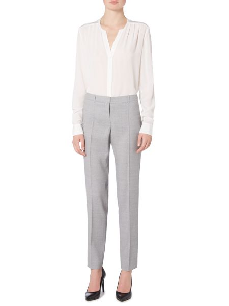Hugo Boss Tiluni1 Side Zip Text Wool Suit Trouser