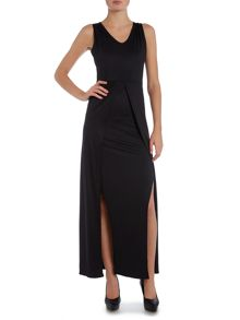 Wal-G Sleeveless Two Split Maxi Dress