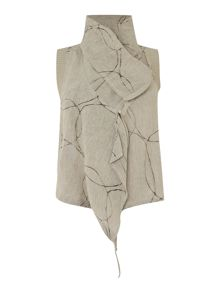 Crea Concept Zip gilet with circles