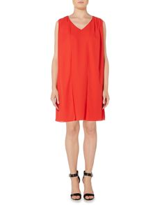 Biba Pleat shoulder detail dress