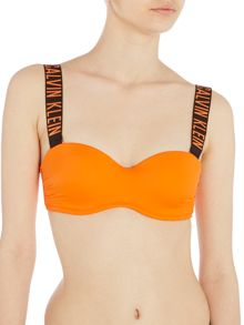 Calvin Klein Intense power structured bandeau bikini top