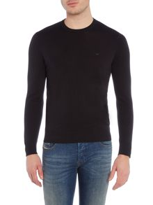 Crew Neck Logo Cotton Knitted Jumper