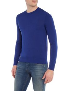 Armani Jeans Crew Neck Logo Cotton Knitted Jumper