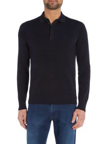 Armani Jeans Long Sleeve Logo Cotton Knitted Polo