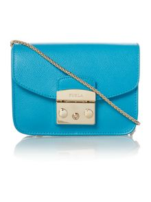 Metropolis blue cross body bag