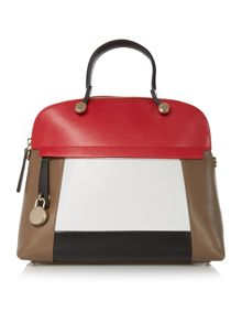 Furla Piper multi coloured medium dome bag