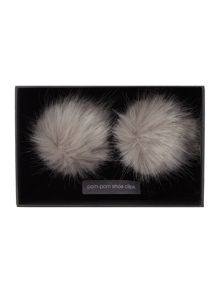 Faux fur shoe clips
