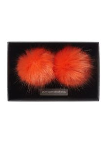 Helen Moore Faux fur shoe clips