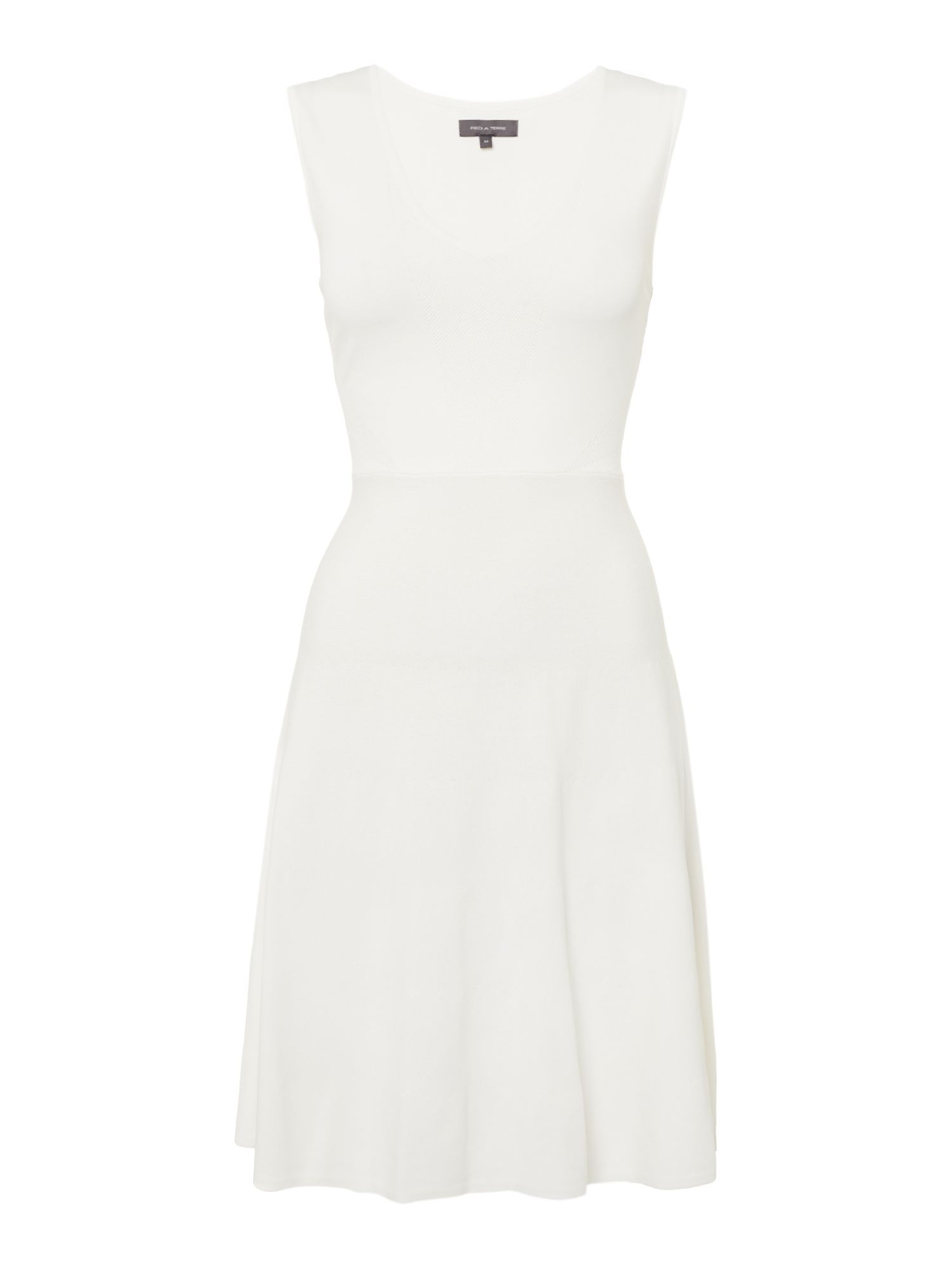 Pied a Terre Pied a Terre Knit Sweater Dress, White