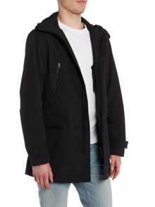 Armani Jeans Long Length Hooded Zip Up Jacket