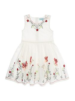 Girls Butterfly embroidered sequin dress
